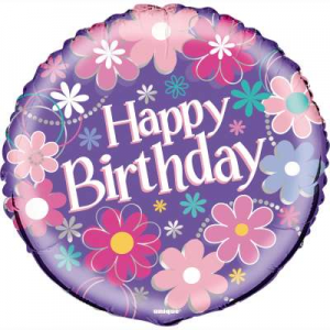 "Blossom Happy Birthday Balloon - 18"" Inflated"