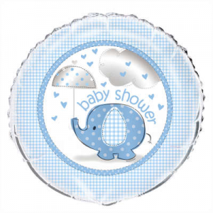 "Blue Baby Shower Balloon - 18"" Inflated"