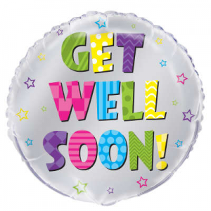 "Get Well Soon Balloon - 18"" Inflated"
