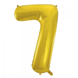 "Gold Number 7 Foil Balloon - 34"" Inflated"