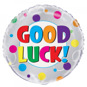 "Good Luck Balloon - 18"" Inflated"