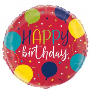 "Happy Birthday Balloon - 18"" Inflated"