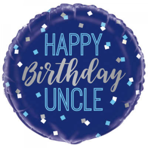 "Happy Birthday Uncle Balloon - 18"" Inflated"