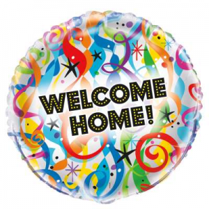 "Welcome Home Balloon - 18"" Inflated"